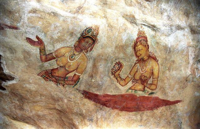 Freski z Sigirija, Sri Lanka. Fot. Jerzy Strzelecki Creative Commons