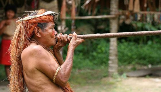 Członek plemienia Yagua z okolic Iquito w Peru. Fot. Jialiang Gao. Creative Commons